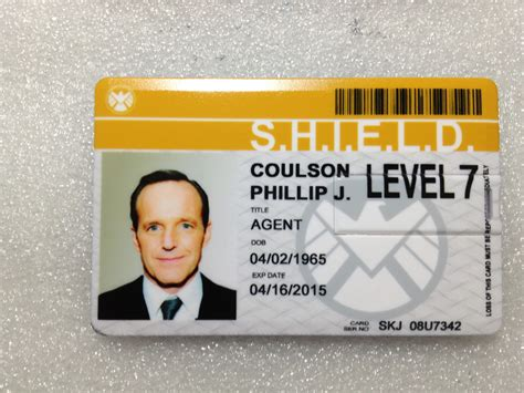 of shield id card template coulson shield id badge 4gb usb card