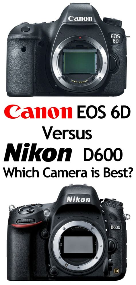 which is best canon or nikon canon 6d vs nikon d600 which is best 187 expert