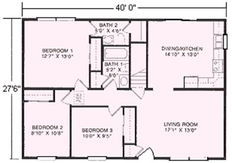 1100 sq ft ranch floor plans 1100 sq ft home 1100 square