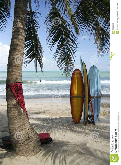 surf boards kuta beach bali indonesia stock photo image
