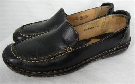 born womens loafers born womens black leather loafers shoes 8 39 flats w3526