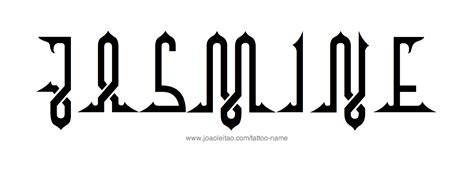 jasmine tattoo font jasmine name tattoo designs