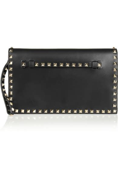 Net A Porter Gift Card - valentino the rockstud leather clutch net a porter com