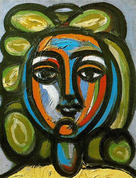 picasso emotion paintings of a with green curls 1946 pablo picasso