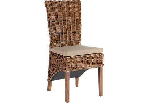 rattan dining room chairs the cindy crawford key west dark rattan 5pc rectangle