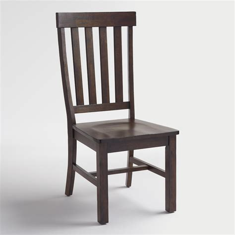 rustic brown wood brooklynn dining chairs set of 2 world