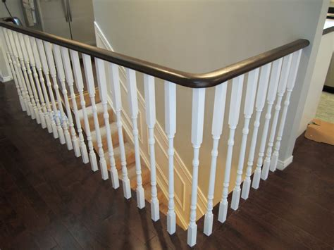 White Stair Handrail Remodelaholic Updating An Oak Stair Or Handrail To White
