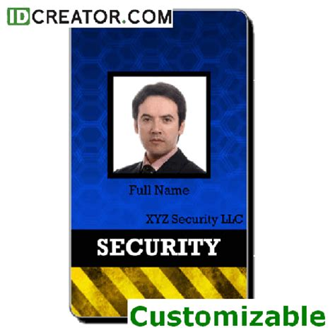 security guard id card template security badges cheap id software 1 855 make ids