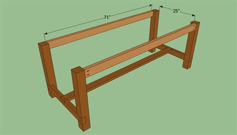 how to build a table bench plan benchwright farmhouse table plans
