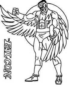 coloriage faucon avengers 224 imprimer sur coloriages info
