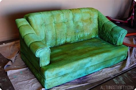 spray paint couch bad ideas by brooke never paint a couch