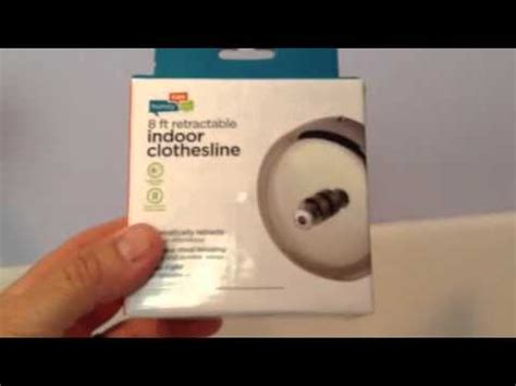 bathroom clothesline how to instal indoor bathroom clothesline youtube
