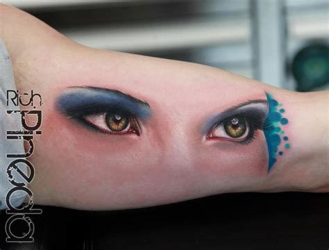eyeball armpit tattoo arm realistic eye tattoo by rich pineda tattoo