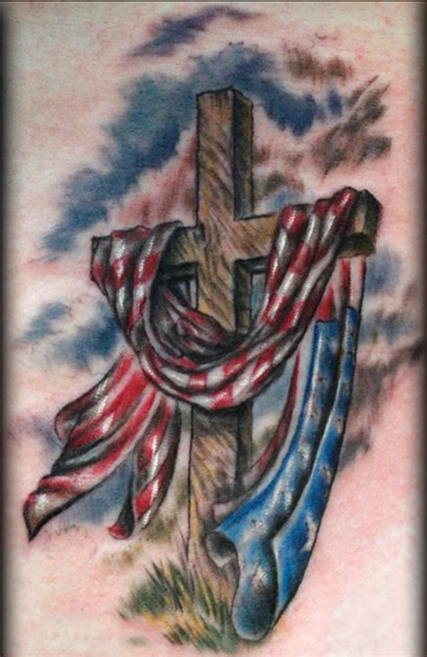 cross and american flag tattoos 20 american flag tattoos ideas amazing american