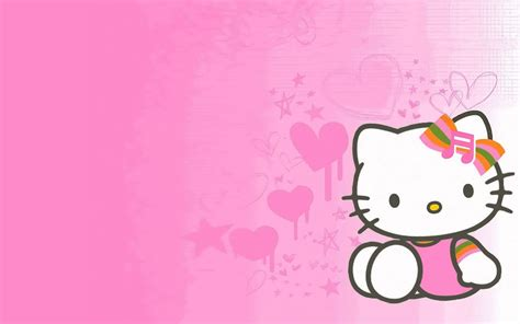 Hello Kitty Wall Wallpaper | hello kitty desktop backgrounds wallpapers wallpaper cave