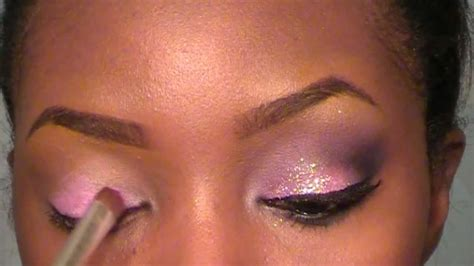 glitter eyeliner tutorial youtube pink and purple glitter makeup tutorial youtube
