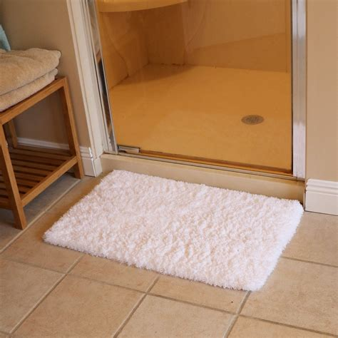 shower rug outjoy bath mat bathroom rug non slip soft microfiber