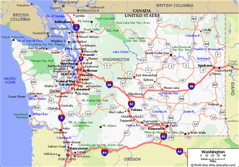 washington state map washington state driving map usawa1 gif pacific