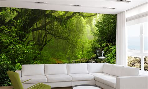 tropical stream wall mural tropical forest wallpaper