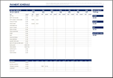 Payment Schedule Template Excel by Payment Plan Template Excel Plan Template