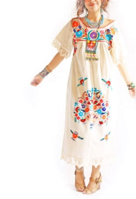 Aida Maxy Dress vintage crochet lace mexican embroidered wedding maxi dress 2301654 weddbook