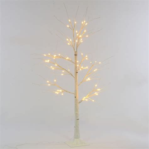outdoor white twig tree led light up 1 25 white birch twig tree indoor outdoor
