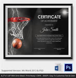 Basketball Certificate Templates Free basketball certificate template 14 free word pdf psd