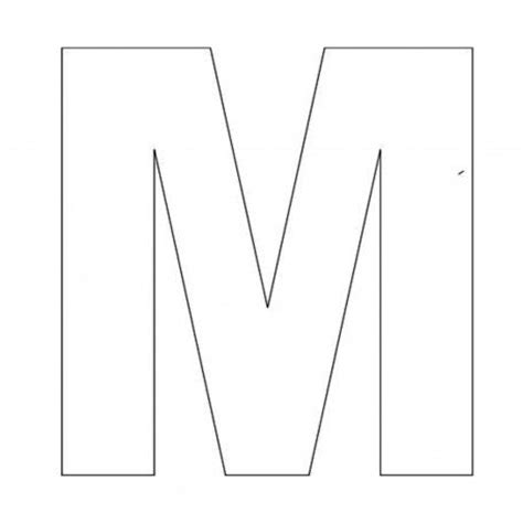 letter m template alphabet letter m template for abc crafts