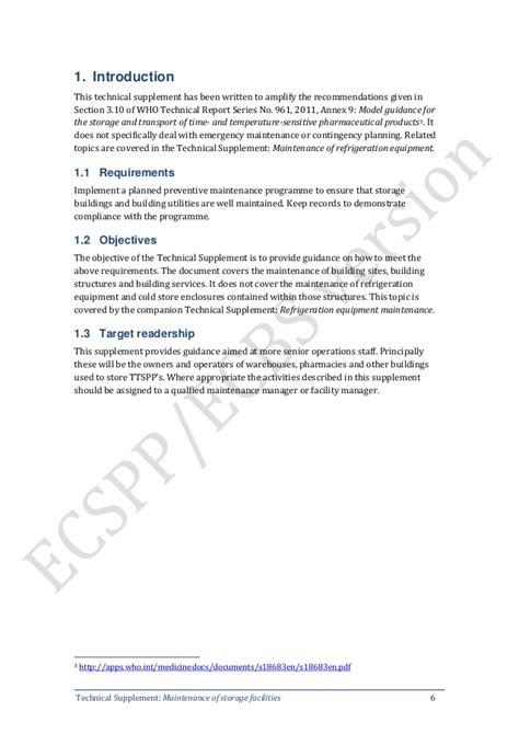 supplement 9 maintenance of refrigeration equipment hdbs 4 phụ lục 9 gmp who bảo dưỡng kho bảo quản