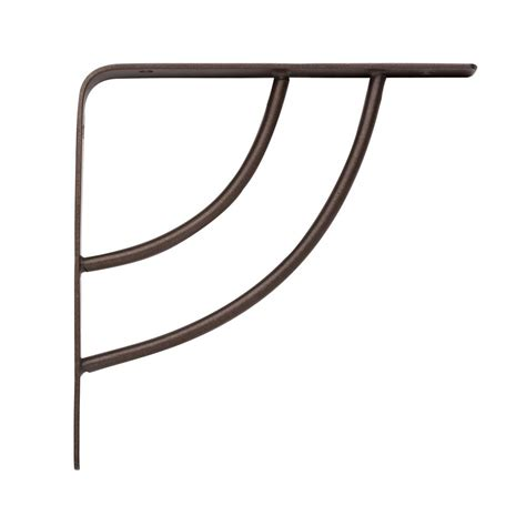Home Depot Decorative Shelf Brackets by Knape Vogt 6 In X 75 In Bronze 25 Lb