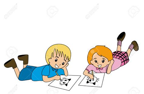 Drawing On Paper Kid Clipart Explore Pictures Kid Drawing Picture