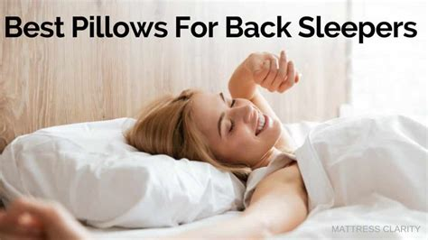 best pillow for back sleepers best pillows for back sleepers
