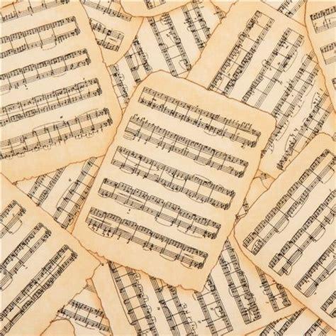 imagenes partituras antiguas tela beis con partituras antiguas por timeless treasures