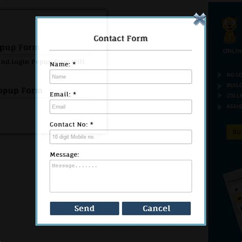 design form jquery 转 jquery popup login and contact form freeliver54 博客园