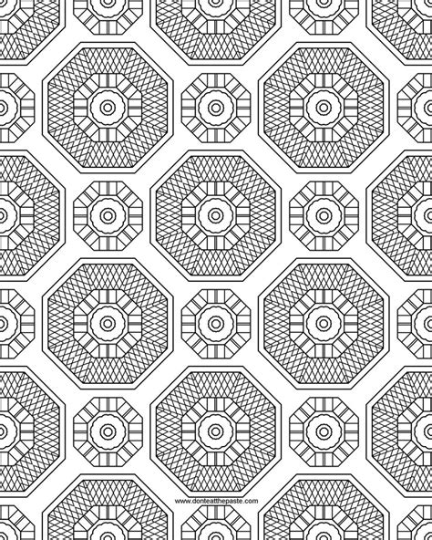 Free Coloring Pages Of Difficult Patterns Coloring Pattern Pages
