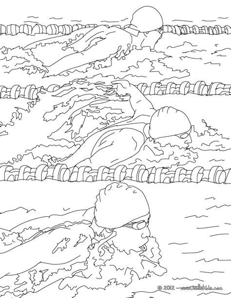 breaststroke swimming race coloring pages hellokids com