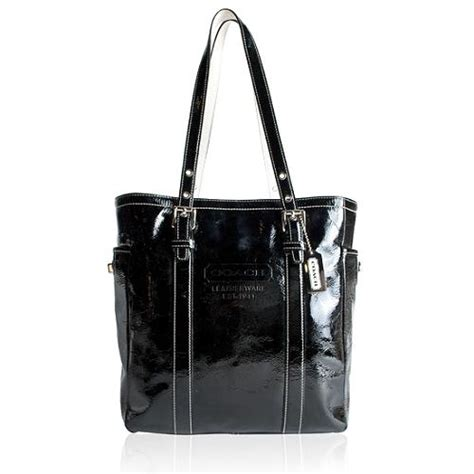 Tas Tote Wanita Diior Luxury Blackhdware Bags Large coach gallery patent leather south tote