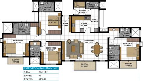 gateway floor plan prestige hillside gateway in kakkanad kochi price