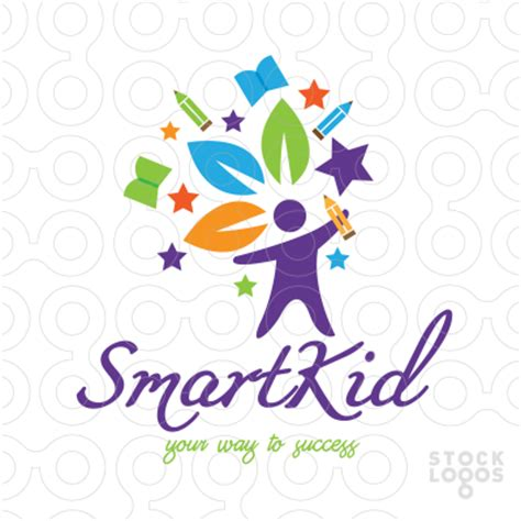 kindergarten design inspiration exclusive customizable logo for sale smart kid