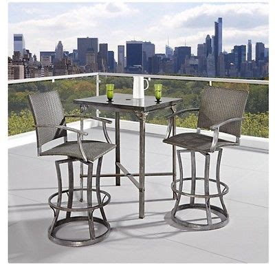 outdoor high dining set pub bar stools table chair patio