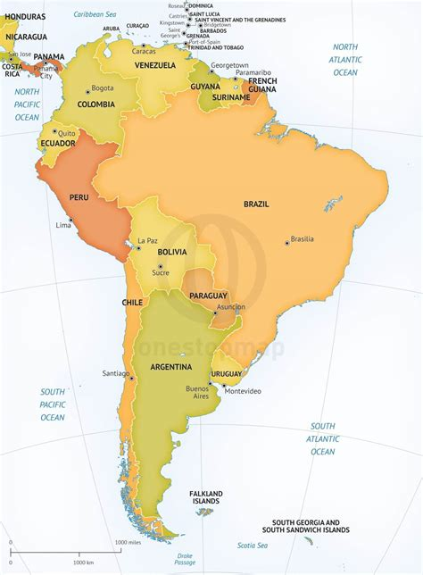 south america political map vector map of south america political one stop map