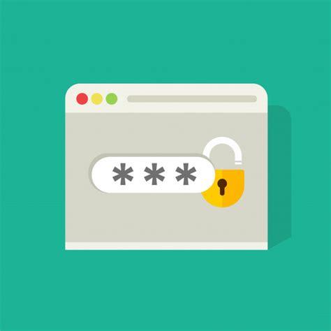 flat cartoon log   sign icon  password field