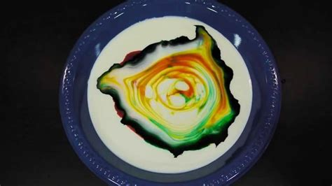 milk food coloring and dish soap experiment the color changing milk experiment the kid should see this