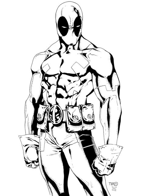 Coloring Page Deadpool by Free Printable Deadpool Coloring Pages For