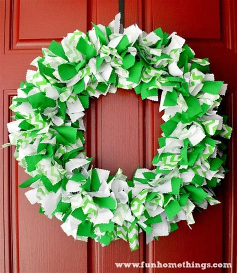 Decorating Doors For Christmas st patrick s day chevron rag wreath fun home things