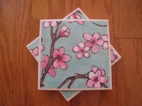 painting on ceramic tile craft how to make a ceramic tile coaster set youtube