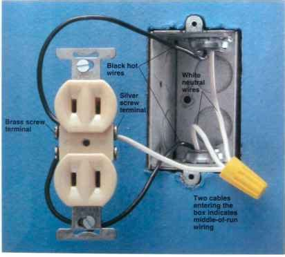 which electrical wire is black or white wiring
