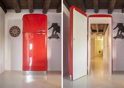 Kitchen Molding Ideas unusual interior door disguises as a fridge