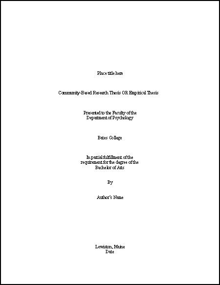 exles of dissertation titles thesis cover page exle