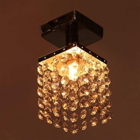 small crystal flush mount lighting chrome finish mini semi flush mount crystal chandelier